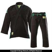 Inverted Gear Gold Weave Panda Black BJJ Gi
